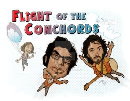 Flight of the Conchords by ArtisticSchmidt