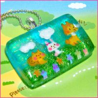 Kawaii Animals Resin Necklace by bapity88