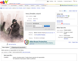 Harry Dresden: Sold on EBay by xxtayce