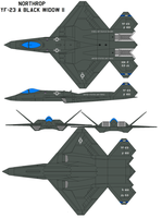 Northrop YF-23 Black Widow II by bagera3005