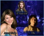 Wraith and actors. (Jewel Staite) by tatyankaWraith