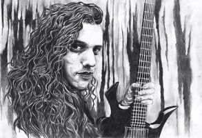 Chuck Schuldiner by atergnetic