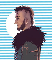 ragnar lothbrok by VioletDragonSlayer
