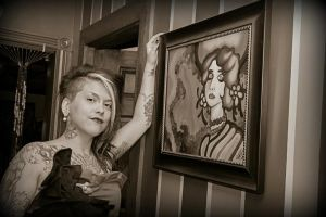 Pearl and I at the Boudoir artshow by Pieces-Of-Graziella