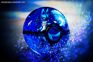 Lucario Into Pokeball by GokuDesings