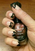 Black V French with Glitter by M-Everham