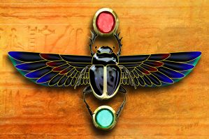 Egyptian Scarab Beetle by Spirit-Knight
