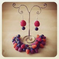 Raspberries mini set by Merlyn-Wooden