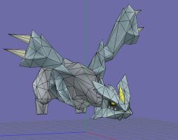 new kyurem papercraft v3 wip by javierini