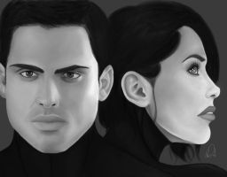 Natalie and Kaidan by DiamonikaDunsonArt