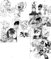 .:Doodle Page:Princesses. by 5courgesbestbuddy