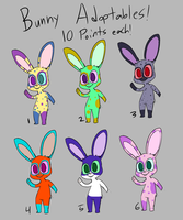 Rabbit Adoptables -SOLD OUT- by Catmaniac8x