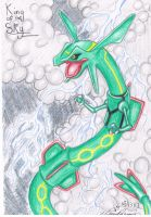 Rayquaza - King of the Sky by Lugiaisawesome