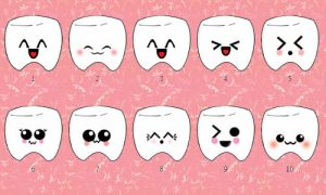 kawaii teeth icons by leviosagal