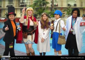 PL vs AA Gathering: TEAM Professor Layton by KatyMerry