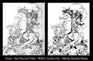 Cover - Hex The Lost Tribe - PENCIL by Keu Cha by GlauberMatos