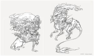 Creature Sketch_004 by Koiless-Artwork