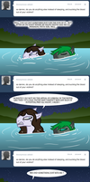 Ask Darren the Vampony Swimming by The-Clockwork-Crow