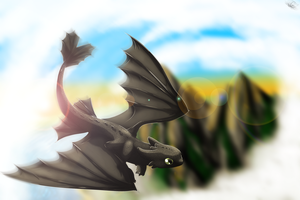 Toothless+Speedpaint by NarmiCreator