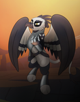 Commission: Evil Griffon General by drawponies