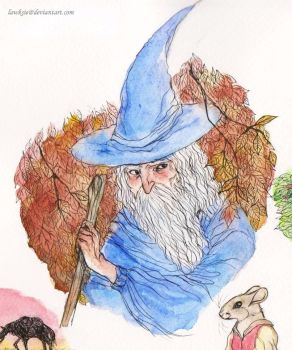 Gandalf and Watercolors by lawksie