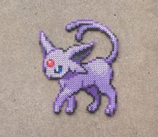 Espeon - Pokemon Perler Bead Sprite [FOR SALE] by MaddogsCreations