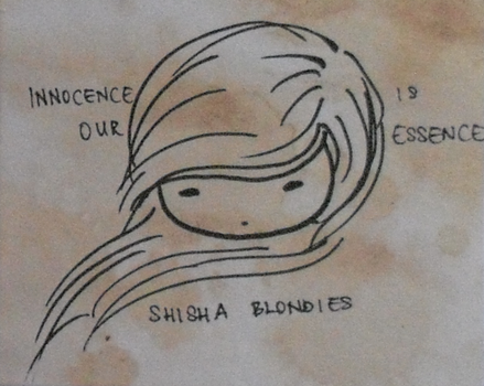 I tried making drawings from tea stained papers. by akuma-onigiri