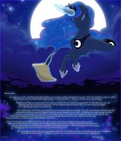 Princess Luna, Letters from the Moon by Alshin-SKing
