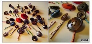 Barrettes a cheveux boutons by Emillye
