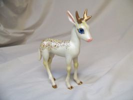 """Winter"" ooak reindeer by AmandaKathryn"