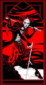 Cruel Thing Tarot - Le Mat by LucianoVecchio