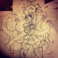 Filia and Samson Poster Drawing by PonyBoyCupcakesDA