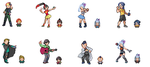 Trainer Sprites for my Fanfic by Rogue-lei