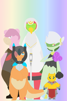 PKMN-Awakening: Group Picture by Trial-Of-The-Dragon