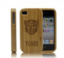 Handmade Eco-friendly Bamboo iPhone4/4S Case-Trans by tracylopez