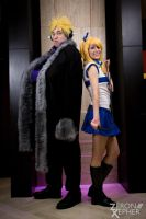 Laxus Dreyar and Lucy Heartfilia by LinkInSpirit