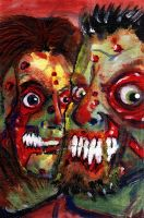 zombie 0051 and 0052 by BYRONvonREMPEL