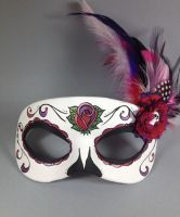 Deluxe Rose Day of the Dead Masquerade by maskedzone
