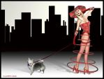 Redbelle In The City by NooYawkGurrl