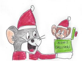 Merry Christmas from Tom and Jerry by dth1971