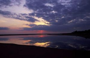 Lake Superior Sandbar Sunset by groovyjeff