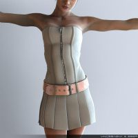 Skin and Cloth Study by DAZ-3D