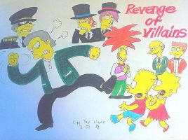 The Simpsons : Revenge of the villains!!! by komi114