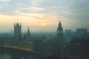 Sunsent in London by N-Shadow