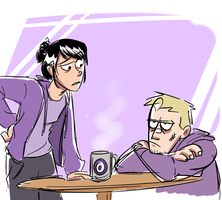 Two Bummed out Hawkeyes by xxiiCoko