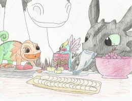 The Small Four: Snack Time!! by ZaraSkypainter
