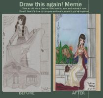 Before and after-enter to Rusembell contest by HoshiBlue21