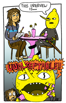 My Interview with Lemongrab by bvandenbroeck