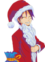 Navidad Luffy Render by secretosycolores