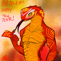 Year of the snake by Deezmo